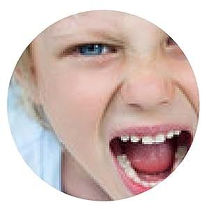 alfombrilla de ratón Primer plano retrato de un niño gritando muy enojado - ronda - 20cm