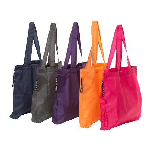 Ikea Upptacka Tote Bag (One of Each Color — Pack of 5), Bags Central