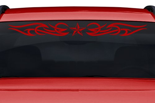 Sticky Creations - Design #165-01 Nautical Star Tribal Curls Windshield Decal Sticker Vinyl Graphic Back Rear Window Banner Tailgate Car Truck SUV Van Boat Trailer | 36