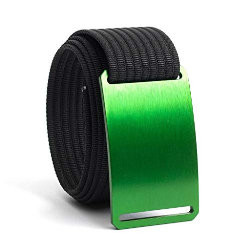 50 Inch Green Belt Buckle w/Black Strap