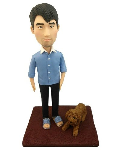 Model D12 Fully Personalized Bobble Head Clay Figurines Based on...