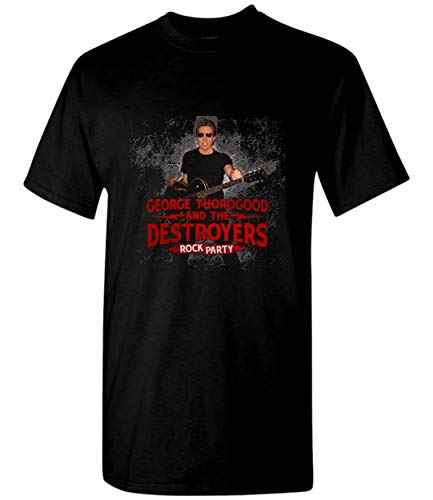 Tour George 2018 Thorogood pulang Unisex T-Shirt Sweatshirt Black (George Thorogood And The Destroyers September 27)