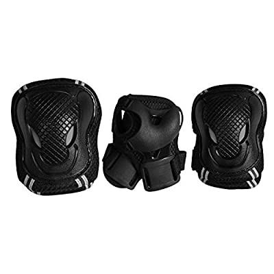 Urban PSUB3JUNI-XS000 Set de Protection Mixte Enfant, Noir