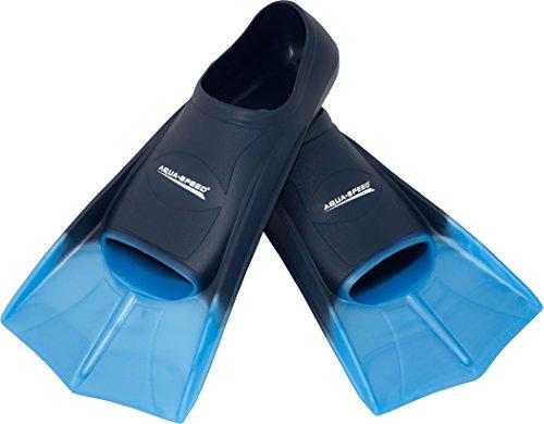 AQUA-SPEED Kurze Trainingsschwimmflossen Tauchflossen Training, dunkelblau/hellblau, 31/32