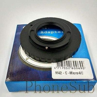 C Mount Movie Lens to Micro 4//3 M43 Mount Adapter Dual Purpose M42//C-M43 FidgetFidget M42