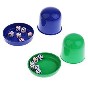 Flameer Two Sets of Dice KTV Bar Gambling Casino Poker Game Dice Cup for Dice Games