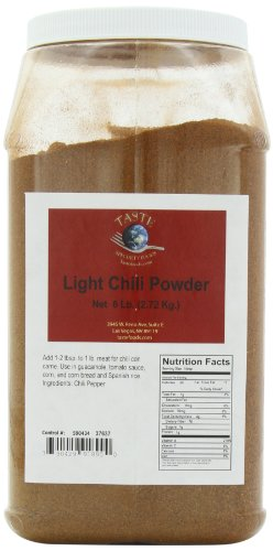 TASTE Specialty Foods Chili Powder, Light, 6 Pound Jug