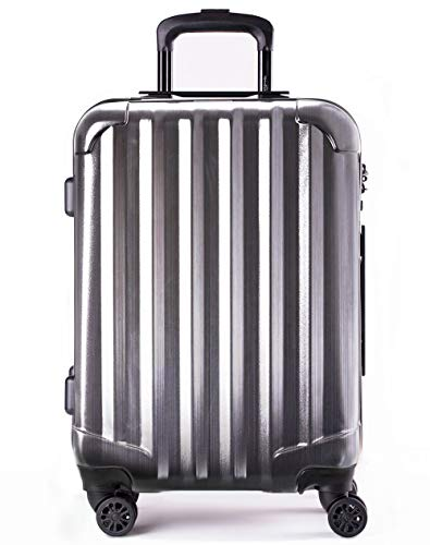 Genius Pack Hardside Luggage Spinner - Smart, Organized, Lightweight Suitcase (Supercharged - Brushed Chrome)