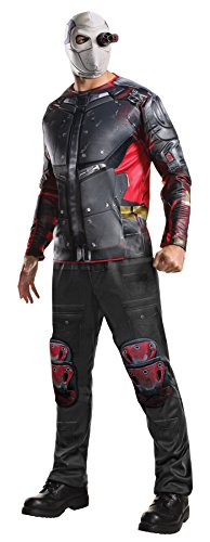 UHC Men's Suicide Squad Deluxe Deadshot Outfit Adult Halloween Costume, STD (42-44)