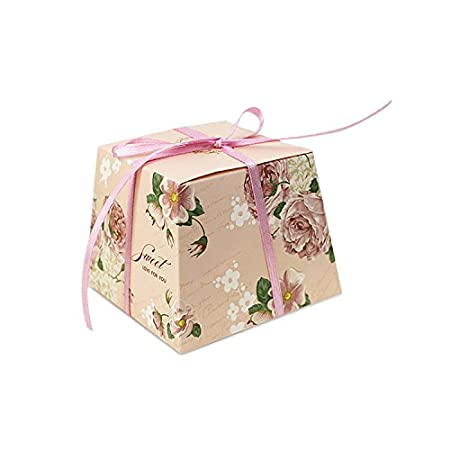 Zhi Jin 40Pcs Vintage Floral Wedding Candy Boxes Flowers Chocolate Awesome Decorative Candy Boxes