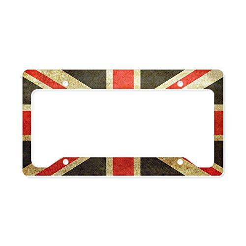 CafePress - Vintage Union Jack - Aluminum License Plate Frame, License Tag - London Frames Vintage