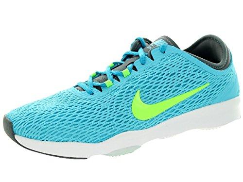 Nike Women's Zoom Fit Clrwtr/Flsh Lm/Cl Gry/White Training Shoe 6 Women US