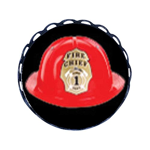 [GiftJewelryShop Ancient Style Fire Chief Helmet Round Pin Brooch] (Helmet Style Pin)