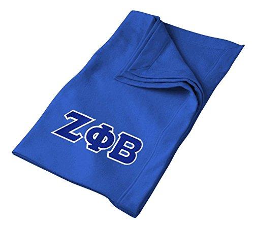 Zeta Phi Beta Lettered Twill Sweatshirt Blanket
