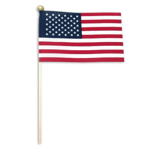 US Flag Store Standard Ball Tip USA Stick Flag, 4 by 6-Inch