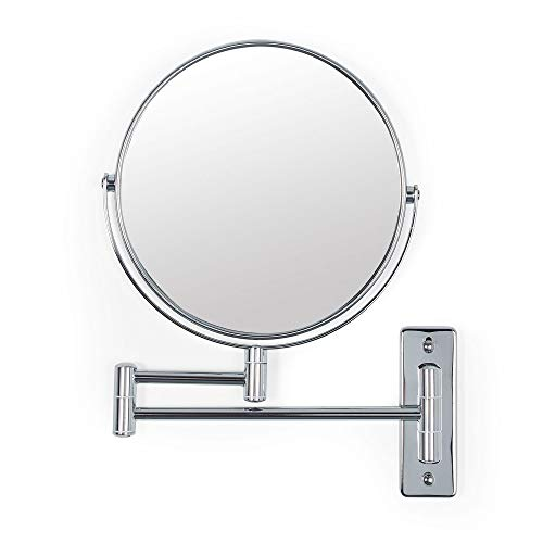 Better Living Products Cosmo Wall Mount Mirror with Folding Arm Chrome