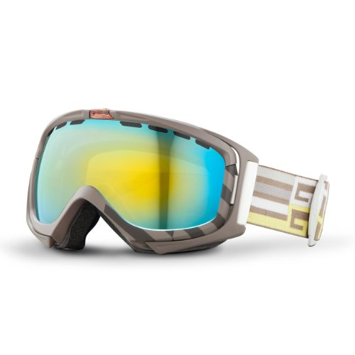 Giro Manifest Interchangeable Spherical Lens Goggle (Tank Offset, Loden Yellow/Persimmon (Manifest Ski)