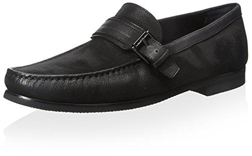alessandro-dellacqua-mens-fleming-loafer-black-43-m-eu-10-m-us