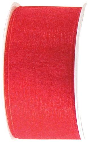 The Gift Wrap Company 1.5-Inch Organdy Ribbon, Ruby (19011-03)