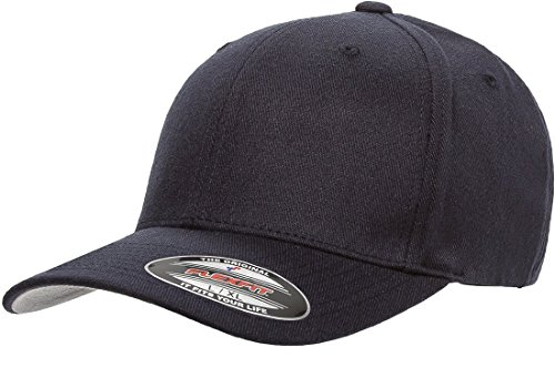 Flexfit 6477 Wool Blend Cap - Large/X-Large (Dark Navy)