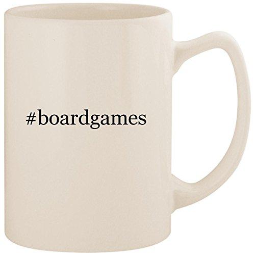 #boardgames - White Hashtag 14oz Ceramic Statesman Coffee Mug Cup