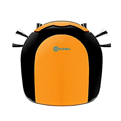 Best Value Award RolliCute Robotic Vacuum - Extra Large Container, Allergen & Pet Hair Filter, Pets/Kids Friendly Design