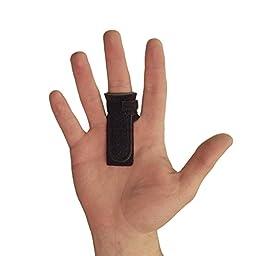 AT Surgical Black Adjustable Trigger Finger & Thumb Splint