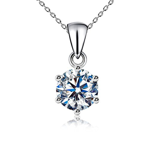 Gorgeous CZ 2 carat pendant necklace