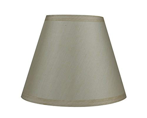 back Lampshade, Faux Silk, 5x9x7