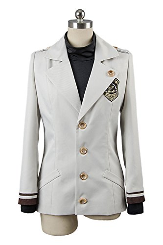 [Costhat Black Coat Shirt Zen Ryu Hyun Zenny Dress Cosplay Costume L] (Ryu Costume)