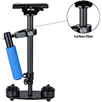 Sutefoto Carbon Fiber 15.7/40cm Professional Adjustable Steadicam Video Camera Stabilizer for DSLR and Video Cameras up to 3.31lbs/1.5kg