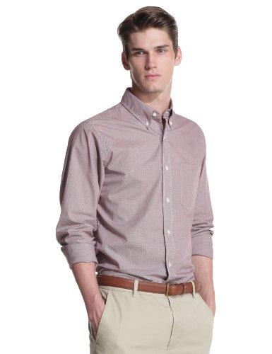 Jack Spade Men's Russ Button Down Shirt, Red, Medium
