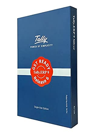 Tally Erp 9 Silver Gst Ready Single User Activation Key Card Amazon In Software