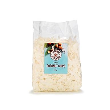 Coconut Merchant Organic Raw Coconut Chips 500g Amazoncouk Grocery