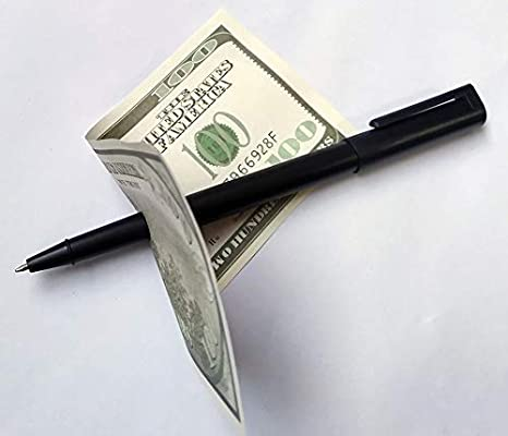 Professional Pen Through Banknote Magic Trick NEW Pen Through Playing Card