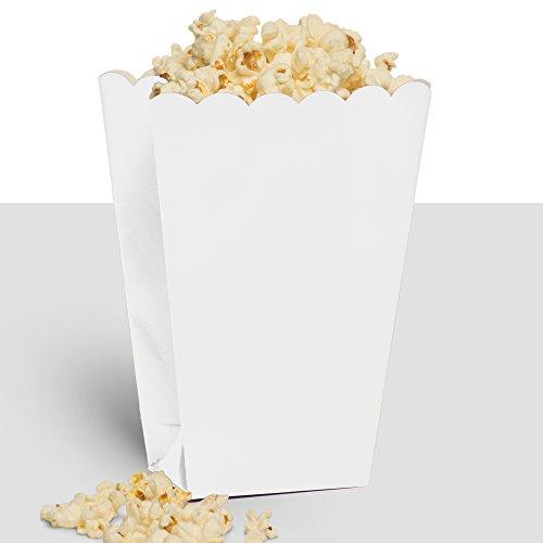 Party Ready Large Popcorn Favour Box, White, Paper, 7