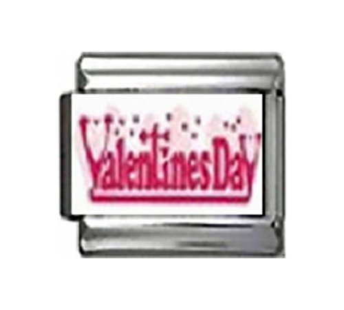 VALENTINES DAY Photo Italian Charm 9mm Link - 1 x LV055 Single Bracelet Link
