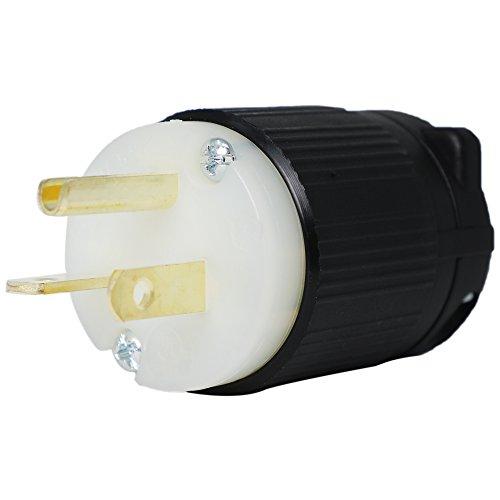 5-20P Plug - NEMA Straight Blade 20 Amp, 125V Power Cord Plug