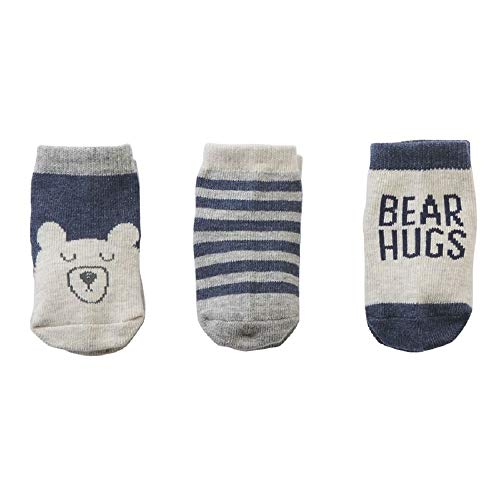 Mud Pie Bear Hugs Sock Set, Multicoloured, One Size Fits All