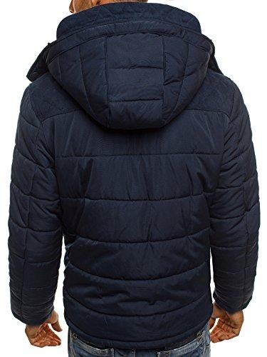 Winter J 1041 Sport Lungo Ozonee Uomini Long 3046 Boyz Jacket Parka Blue Sports Allineato Ozonee Degli Parka Caldo Style Invernale Maglione Stile Giacca Lined Warm 1041 Boyz Sweater Dark 3046 J Scuro Di Men's Blu Bfq16f5
