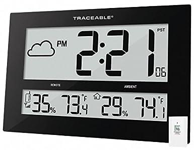 Amazon.com: Control Company - Reloj de pared rectangular LCD ...
