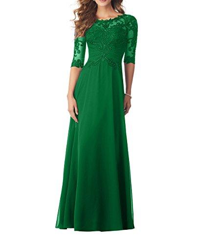 Spitze Brautmutterkleider Linie Abendkleider Lang Chiffon Elegant Partykleider Langarm A Charmant Neu Damen 2018 Gruen Jaeger YpwPxnqF0X