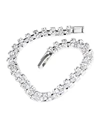 Fashion Women Full Crystal Charm Bracelet Luxury Tide Ladies Hand Bracelets Bangles 1PCS