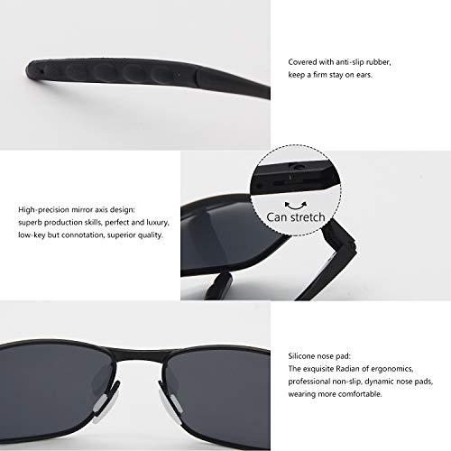 Sol Deportivas Polarizadas Para AMZTM Gafas Negro Gafas Gris Hombre De 1f6q4x