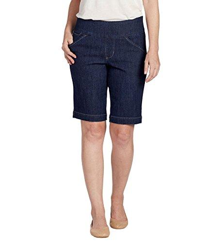 Cotton Pull On Shorts (Jag Jeans Women's Ainsley Pull On Bermuda Short, Dark Shadow, 6)