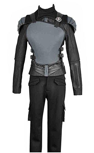 The Hunger Games Part 2 Katniss Everdeen Battleframe Cosplay Costume (X-Small Female, Black)