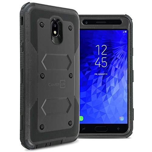 2nd Gen Full Body - CoverON [Tank Series] for Samsung Galaxy J7 V 2nd Generation Case, Galaxy J7 Refine/Galaxy J7 2018 / J7 Star / J7 Aero / J7 Crown Case, Protective Full Body Phone Cover with Tough Faceplate - Black