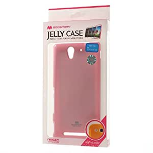 JUJEO Glitter Powder Jelly TPU Cover for Sony Xperia C3 D2533/C3 Dual D2502 - Non-Retail Packaging - Pink