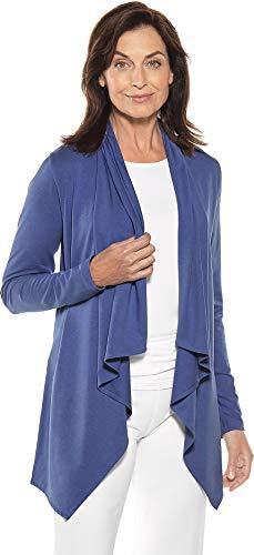 Coolibar UPF 50+ Women's Sun Wrap - Sun Protective (XX-Large- Empire Blue)