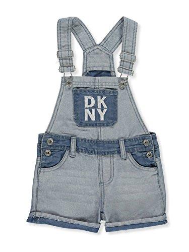 DKNY Girls' Denim Shortalls - Light wash, 4 by DKNY